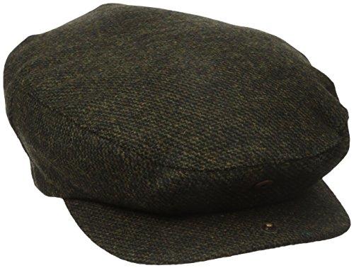 BRIXTON Cap BARREL, moss tweed S Polyester Tweed