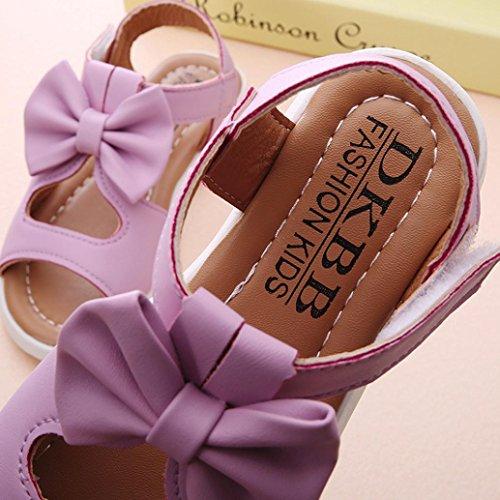 Igemy 1 Paar Sommer Kinder Sandalen Mode Bowknot Mädchen Pricness Schuhe Lila