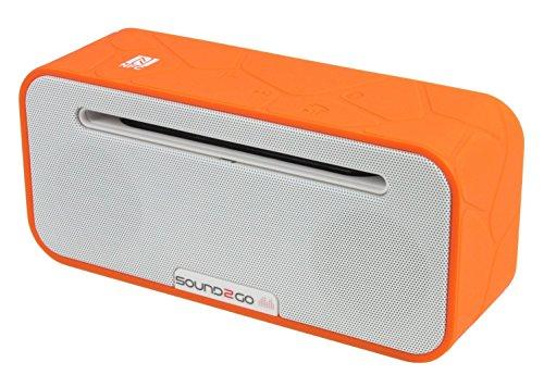 SOUND2GO BRIQ STUDIO - Bluetooth 3.0 Stereo Lautsprecher mit NFC-Technologie, Freisprecheinrichtung und Micro-SD-Slot - orange