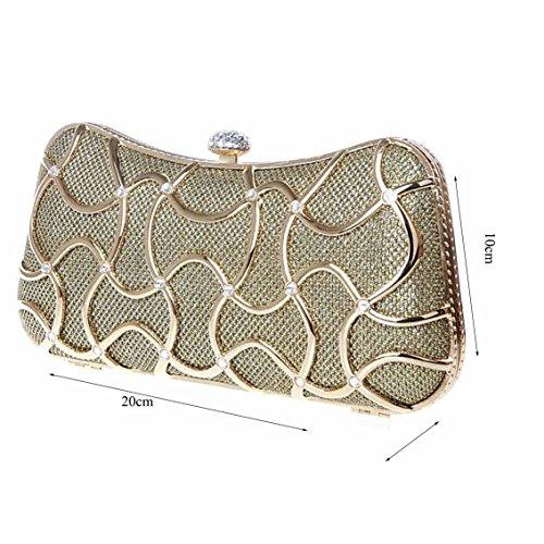 Nuova borsa borsa sera di banchetto della sposa della borsa della borsa di nozze sacchetto di modo di diamante ( Colore : Nero ) Rosso