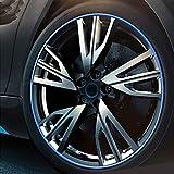 Selbsklebende Felgen Wheel-Stripes,Zierstreifen,Auto-Styling,KFZ-Tuning (Blau)