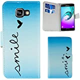 Samsung Galaxy A3 (2016) Smile PU-Leather Flip Stand Hülle Tasche Cover Case Bumper Etui Flip smartphone handy backcover thematys®