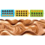 niceEshop(TM) 3pcs Chocolate and Candy Molds Silicone Mold & Ice Cube Trays, Hearts, Stars & Shells Shapes Molds for Making Homemade Chocolate, Candy,