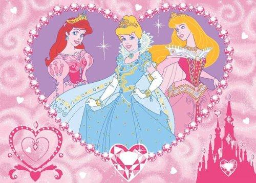 Alfombra Disney Princesas Jewels 95 x 133 cm