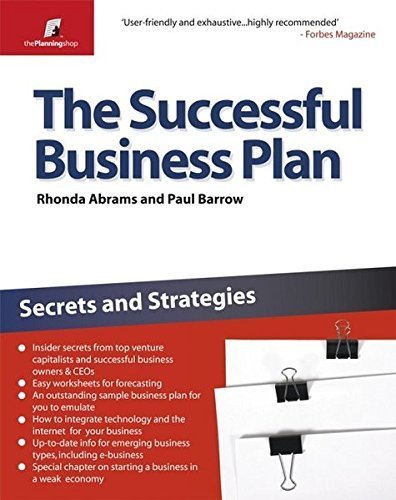 The Successful Business Plan: Secrets and Strategies (The Planning Shop Series?????) by Paul Barrow (2008-05-13)