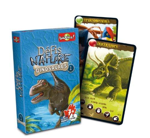 Asmodee - Dino Challenge, juego educativo, caja de color azul (DIN02)