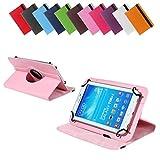 BRALEXX Universal Rotation Tasche passend für Huawei MediaPad M1 8.0, 8 Zoll, Rosa
