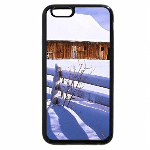 iPhone 6S / iPhone 6 Case (Black) snow covered barn