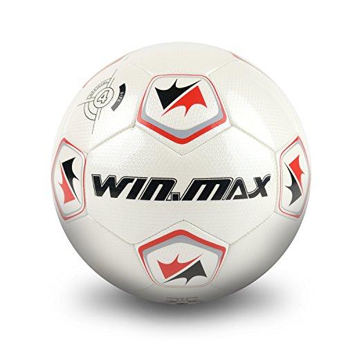 Win.Max Pallone da Calcio Pallone da Allenamento Bambini e Adolescenti Pallone da Allenamento Taglia 4 Pelle PU con Design Lucido