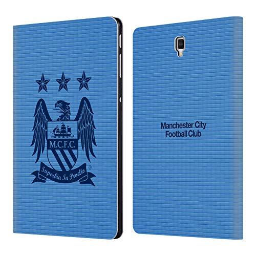 Head Case Designs Offizielle Manchester City Man City FC Obsidian Kubus und Himmelblau Crest Pixel Brieftasche Handyhülle aus Leder für Samsung Galaxy Tab S4 10.5 (2018)
