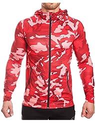 SMILODOX Camouflage Kapuzenpullover Herren | Zip Hoodie für Sport Training & Freizeit | Trainingsjacke - Sportpullover - Sweatjacke - Kapuzenpulli mit Reißverschluss