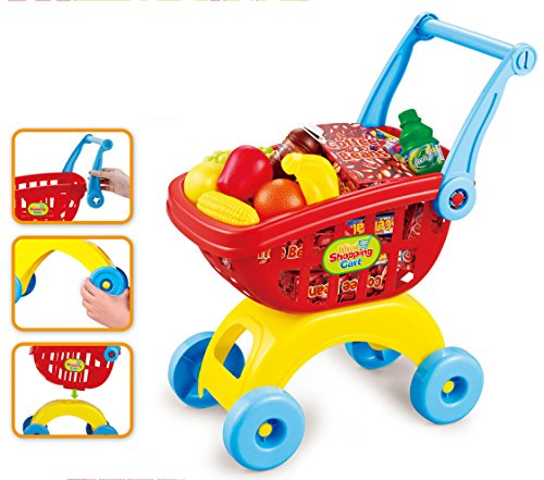Brigamo 549 – Spielzeug Einkaufswagen inkl. 21 teiligem Warensortiment - 3