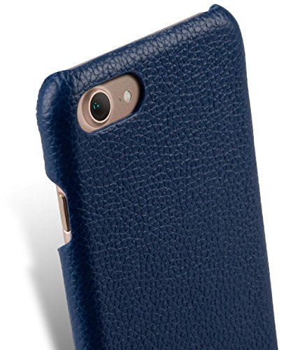 Apple Iphone 7 Melkco Jacka Type Premium Leather Case with Premium Leather Hand Crafted Good Protection,Premium Feel-Red LC Dark Blue LC