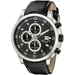 Kenneth Cole IKC8093 - Reloj con correa de poliuretano para hombre, color negro/gris