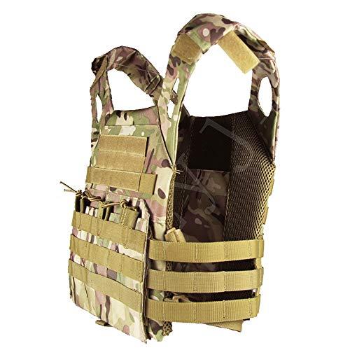 COZYJIA Chaleco táctico de JPC, ejército Militar táctico MOLLE Chaleco para Caza al Aire Libre Pesca Senderismo Airsoft Juego de Guerra (MC