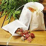 Filtros desechables, 100piezas, para té vacío bolsas con cuerdas para té/café/hierbas/ramos/polvo a base de plantas