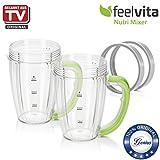 Genius Feelvita Nutri Mixer Behälter | 4 Teile | 600 ml | Bekannt aus TV | NEU