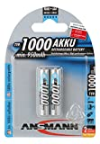 ANSMANN wiederaufladbar Akku Batterie Micro AAA Typ 1000mAh NiMH hochkapazitiv Hohe Kapazität ohne Memory-Effekt Profi Digital Kamera-Akkubatterie 2er Pack