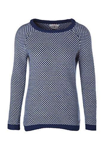 Pullover Disegno a rombi Donna di Arqueonautas - cotone, Scuro Indigo, 100% cotone, Donna, XL