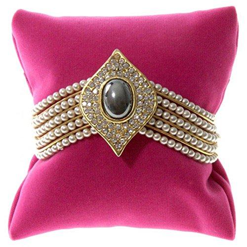 Présentoirs pour Bijoux Schmuckkissen für Armbänder, Pink, (L) 8 x (P) 8