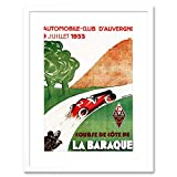 SPORT MOTOR AUTOMOBILE CLUB LA BAROQUE AUVERGNE FRANCE FRAMED PRINT F97X6422...