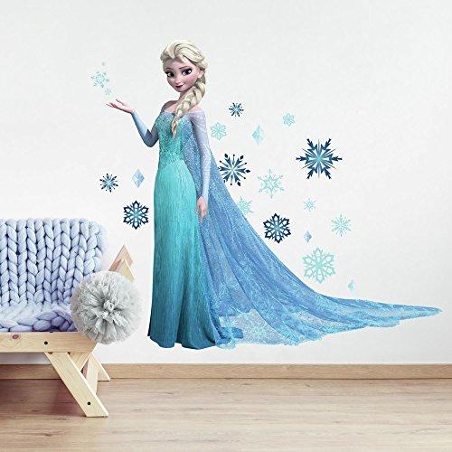 RoomMates RM - Disney Frozen ELSA glitzernd Wandtattoo, PVC, bunt, 48 x 13 x 2.5 cm (Für Mädchen Wandsticker Disney)