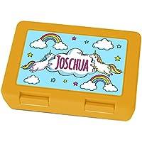 Brotdose mit Namen Joschua - Motiv Einhorn, Lunchbox mit Namen, Frühstücksdose Kunststoff lebensmittelecht preisvergleich bei kinderzimmerdekopreise.eu