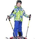 LSHEL Skianzug Jungen Mädchen Skianzüg Kinder Schneeanzug Wasserdicht Winddicht Skijacke und Skihose 122/128