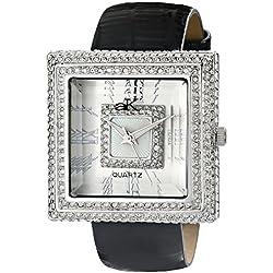 Adee Kaye Women's AK25-L Analog Display Japanese Quartz Black Watch