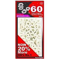 S4U Mega Large Pack 60 x Mini Gutter Hooks, FREE UK DELIVERY, Gutter Hook Multi Pack For Securing Lights To Guttering