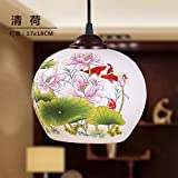 Luckyfree Pendant Light Bedroom Bar Cafe Kitchen Restaurant Hallway Light Fixtures Ceiling Lamp Chandelier Chinese ceramics,Ball bearing a single crane