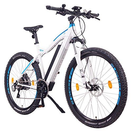 "NCM Moscow Plus 48V, 29"" Zoll E-MTB, Mountainbike E-Bike, 250W Das-Kit Heckmotor, 16Ah 768Wh Akku + Panasonic Li-Ion Zellen, hydraulische Tektro Scheibenbremsen, 24 Gang Shimano Gangschaltung (Weiß Plus 29"")"