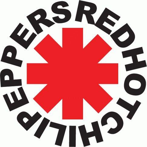 Adesivo dei RHCP Red Hot Chili Peppers, musica rock, 12X 12cm