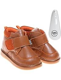 Petit Agneau Bleu Enchevêtrées Chaussures En Cuir Marron, Marron, Taille 25