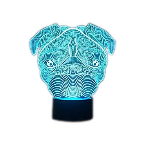 Lámpara 3D Lámpara noche LED Mesa táctil Lámpara