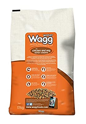 Wagg Complete Worker Chicken and Vegetables Dry Mix Dog Food, 17 kg from Wagg Foods Ltd