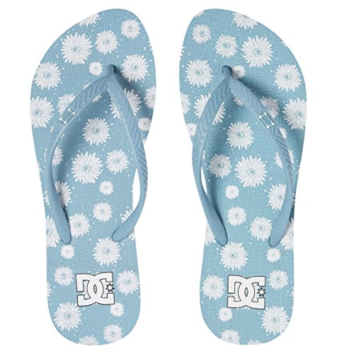 DC Shoes Spray Graffik J Sndl, Tongs Femme Bleu - Light Blue