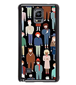 PrintVisa Man Woman Silhouette High Gloss Designer Back Case Cover for Samsung Galaxy Note 4 :: Samsung Galaxy Note 4 N910G :: Samsung Galaxy Note 4 N910F N910K/N910L/N910S N910C N910FD N910FQ N910H N910G N910U N910W8