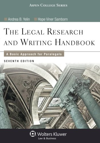 Legal Research and Writing Handbook: A Basic Approach for Paralegals (Aspen College)