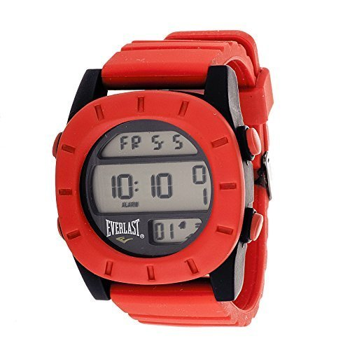 Red Rubber Strap (Everlast Sport Men's Digital Round Watch with Red Rubber Strap by Everlast)