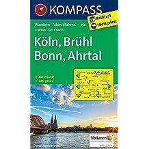 Köln - Brühl - Bonn - Ahrtal: Wanderkarte mit Aktiv Guide und Radrouten. GPS-genau. 1:50000 (KOMPASS-Wanderkarten, Band 758)