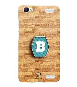 YuBingo Designer Printed Plastic Mobile Back Case Cover Panel for Vivo V1 Max ( Bold Letter B (3D Looking Letter Printed on Plastic) )