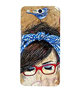 Vizagbeats sparrow on head Back Case Cover for Infocus M812