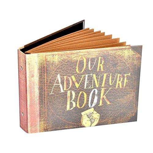 """Pulaisen Album """"Our Adventure Book"""", del Film Up, Scrapbook, Fatto a Mano, Libro delle Avventure, Album Fotografico con Scatola Regola in Omaggio"""
