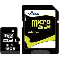Nouva Vida IT 16GB Micro SDHC Scheda di Memoria per il Cellulare Samsung - Focus - Galaxy 551 - Galaxy A - Galaxy Ace 2 I8160 Tablet PCs - Garanzia a vita limitata - con Adattatore SD