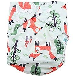 Maillot de Bain Couche-culotte de Bébé Réutilisable Pantalon de Piscine Unisexe pour Garçons Filles Cadeaux de Shower de Bébé Leçons de Natation Sous-vêtements Infantile de Bain(BL002)