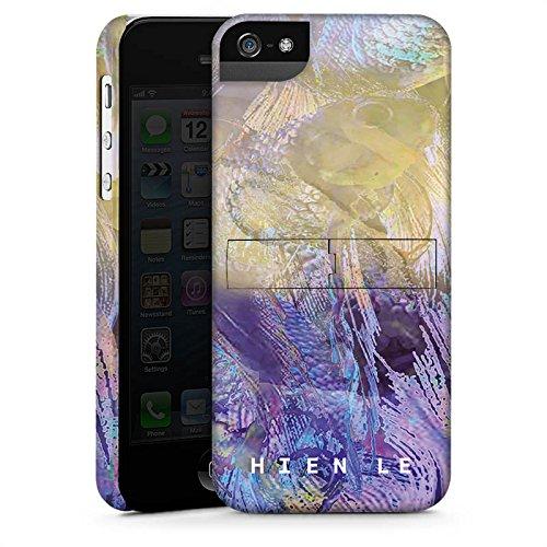 Apple iPhone 5s Housse Étui Protection Coque HIEN LE Poisson rouge Design CasStandup blanc