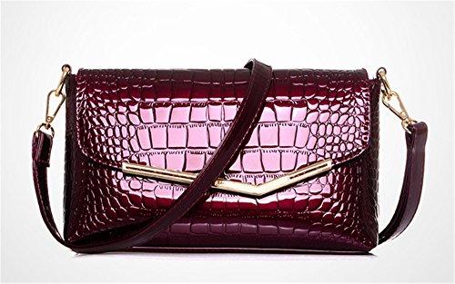 Xinmaoyuan Borse donna Ladies modello coccodrillo Borsetta tracolla croce diagonale Pack,rosso Rosso