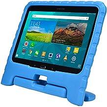 Funda Infantil Cooper Cases (TM) Dynamo para Samsung Galaxy Tab 4 10.1 & 3 10.1 en Azul + Protector de Pantalla gratuito (Ligera, absorción de impactos, Espuma EVA segura para los niños, Asa incorporada, y soporte para visionado)