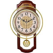 Nclon Europeo Reloj de Pared,Silencioso sin Ruidos Creativo Sala de Estar Dormitorio Retro Swing